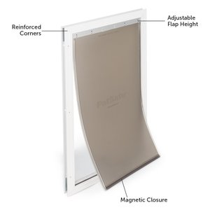 extra large aluminum dog door